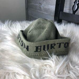 Burton baby green knit winter hat